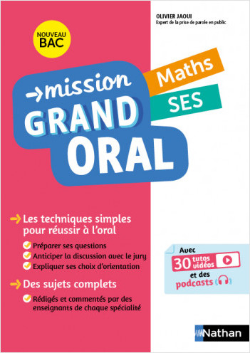 Mission Grand Oral - Maths / SES - Terminale - Nouveau Bac