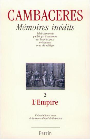 Mémoires inédits de Cambacérès