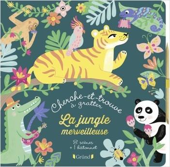 Cherche-et-trouve à gratter : La jungle merveilleuse – Pochette avec 8 Cartes à gratter – À partir de 7 ans