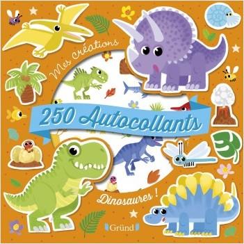 250 autocollants : Dinosaures ! – Pochette autocollants d'animaux et motifs – À partir de 3 ans
