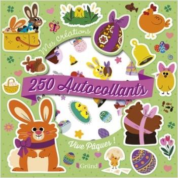 250 autocollants - Vive Pâques !