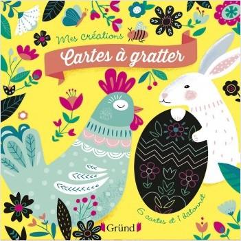 Cartes à gratter : Joyeuses Pâques ! – Pochette avec 6 cartes à gratter – À partir de 6 ans