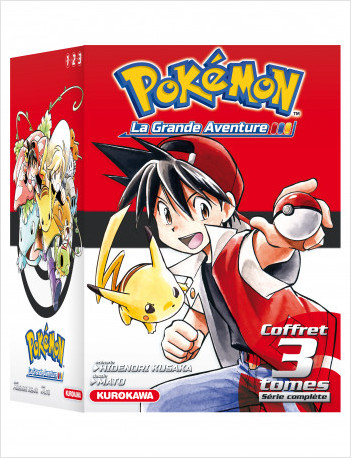 COFFRET - Pokémon - La Grande Aventure Tomes 1-2-3 + Guide Pokémon