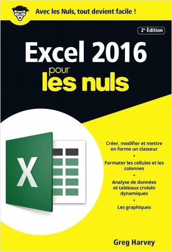 Excel 2016 pour les Nuls poche, 2e édition