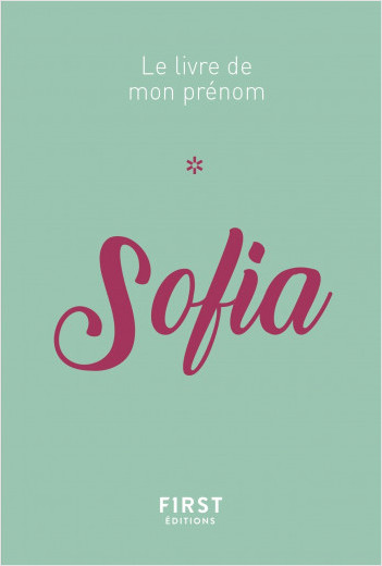 Le livre de mon prénom - Sofia