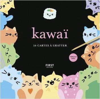 Kawaï - 10 cartes à gratter