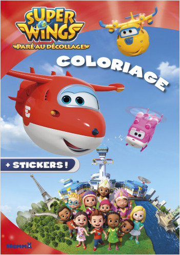 Super Wings - Coloriage avec stickers