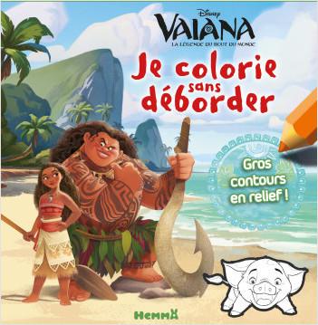 Disney Vaiana - Je colorie sans déborder