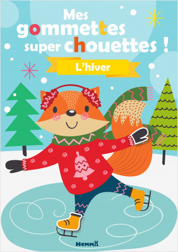 L'hiver - Livre de décors à compléter avec des gommettes - dès 3 ans