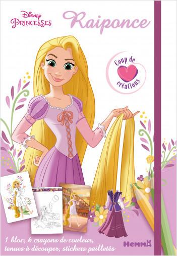 Disney Princesses - Raiponce - Coup de coeur créations - Kit mode avec coloriage et stickers - Dès 5 ans