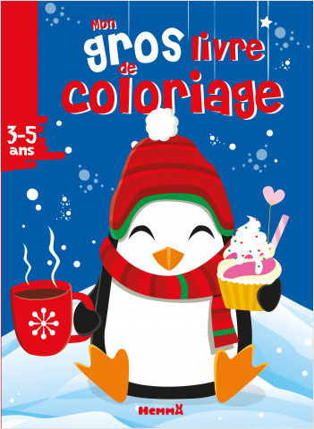 Mon gros livre de coloriage (Noël - Pingouin)