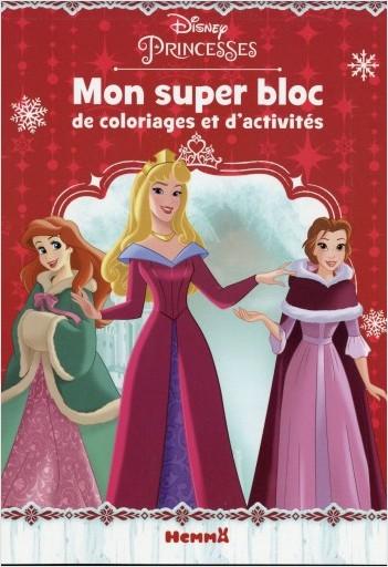 Disney Princesses - Mon super bloc de coloriages et d'activités (Noël)