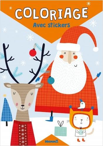 Coloriage avec stickers (Noël) Père Noël