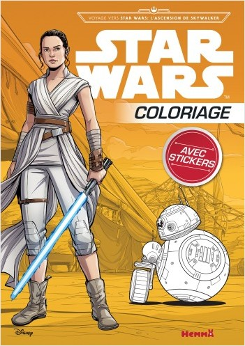 Disney Star Wars Voyage vers SW L'Ascension de Skywalker - Coloriage avec stickers - Livre de coloriage avec stickers - Dès 4 ans
