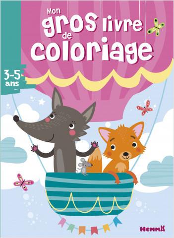Mon gros livre de coloriage (Renard et loup)