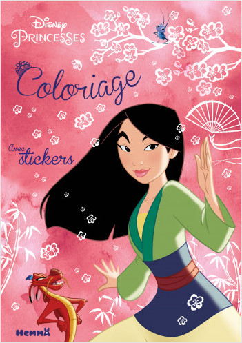 Disney Princesses - Coloriage avec stickers (Mulan)