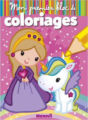 Mon premier bloc de coloriages (Princesse et Licorne)